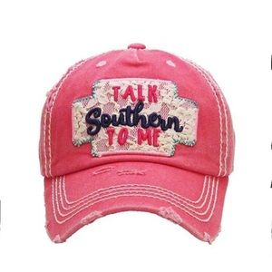 """Accessories - Last 1! Distressed """"southern"""" hat"""